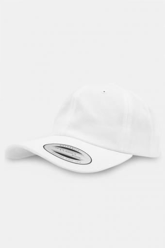 Flexfit Low Profile Cotton Twill Baseball Caps White