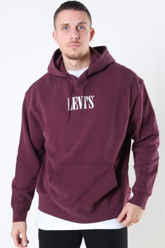 Relaxed Graphic Hoodie Bordeux