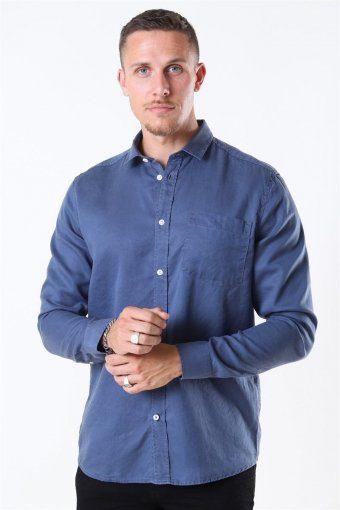 Tailored & Originals Otis Skjorte Dark Denim