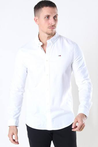 Slim Stretch Oxford Skjorte White