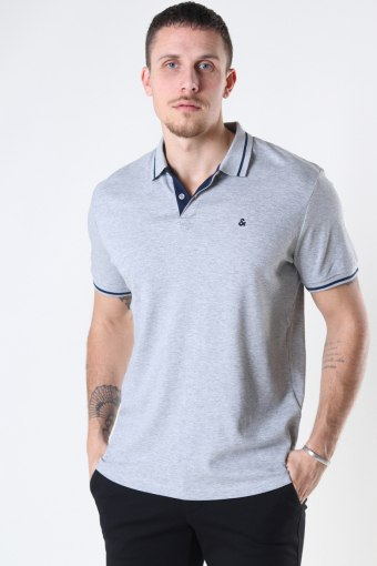 JJEJERSEY POLO SS NOOS Light Grey Melange REG