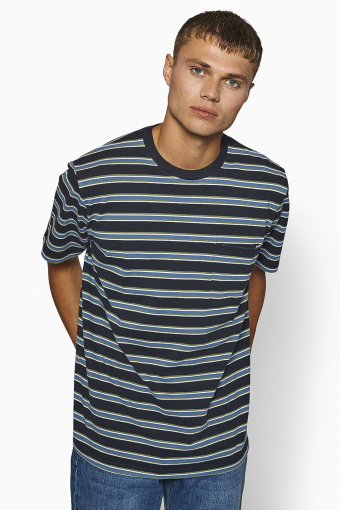 Troi Striped Tee Navy