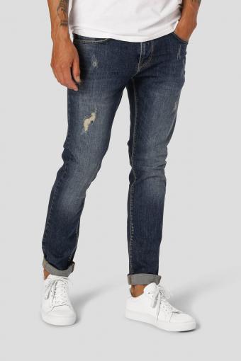 David Slim Stretch Jeans 2005 Dark Blue Destroyed