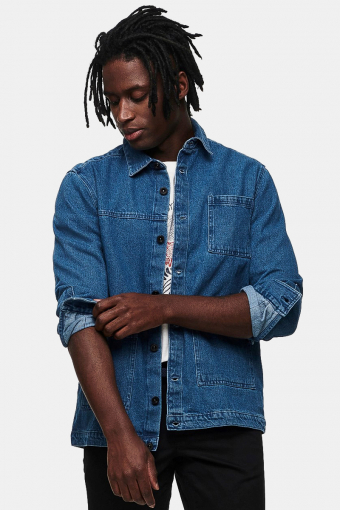 ONSTYRELL LIFE LS DENIM OVERSHIRT Medium Blue Denim