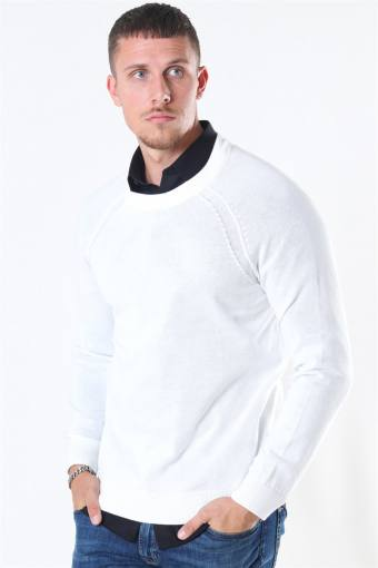 Luno O-neck Strikke Off White