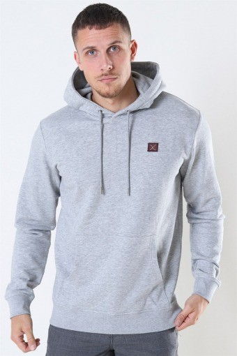 Basic Organic Hoodie Light Grey Melange