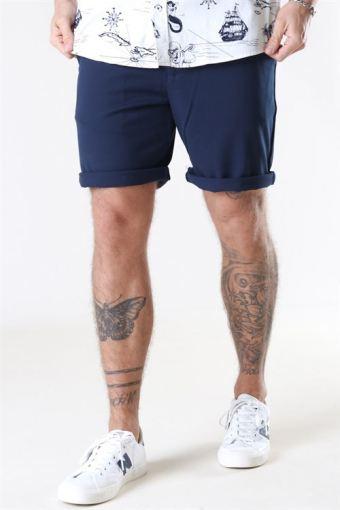Steffen Twill Shorts Midnight Blue