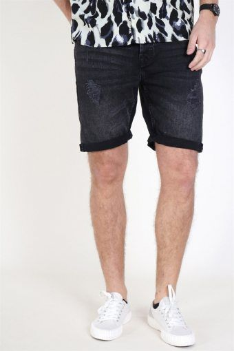 Ply Damage Shorts Black Denim