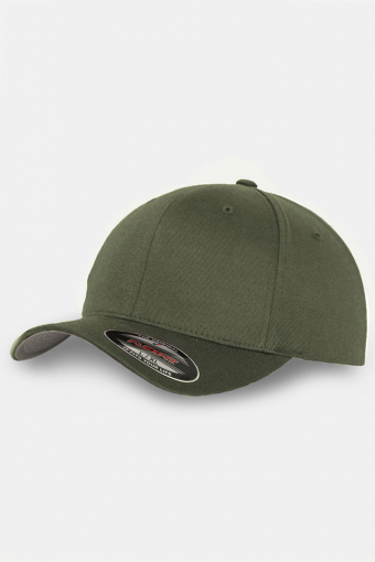 Flexfit Wooly Combed Orginial Caps Olive
