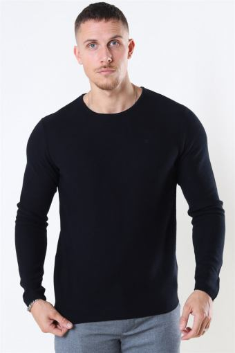 Clean Cut Lauritz Recycled Crew Strikke Black