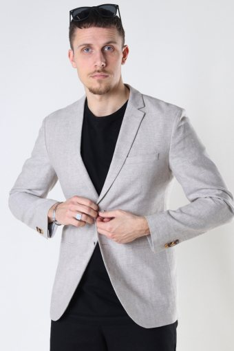 JPRRAY LINEN BLAZER Beige SUPER SLIM FIT
