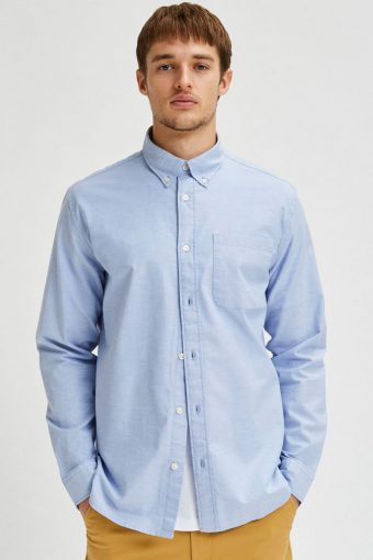 SLHREGRICK-OX FLEX SHIRT LS S NOOS Light Blue