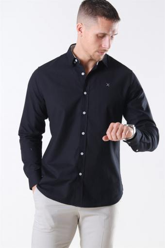 Clean Cut Oxford Plain Skjorte Black