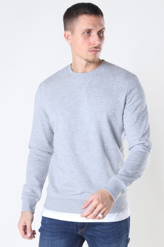 Basic Sweat Crew Neck Light Grey Mel