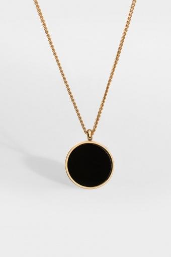 Black Onyx Halskjede Gold