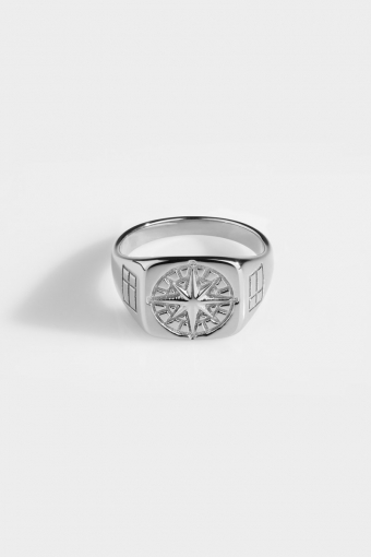 Compass SignatKlokkee Ring Silver