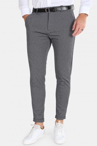 Clean Cut Prato Jersey Pants Dark Grey Mix