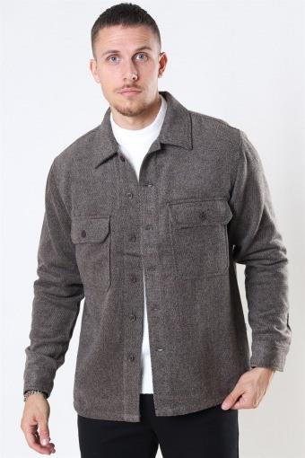 Glixto Wool Overshirt Brown