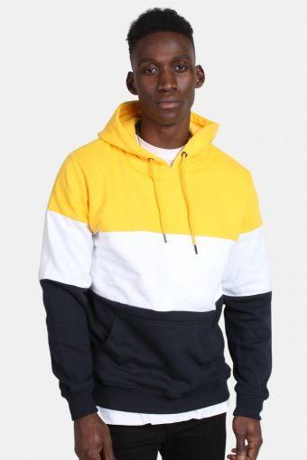 Klokkeban Classics TB1870 3-Tone Hoodie Chrome Yellow/White/Navy