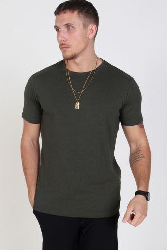 Rock S/S Organic T-skjorte Ivy Green Melange