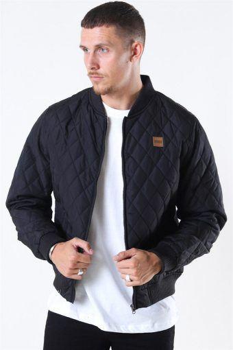 Klokkeban Classics Diamond Quilt Nylon Jacket Black