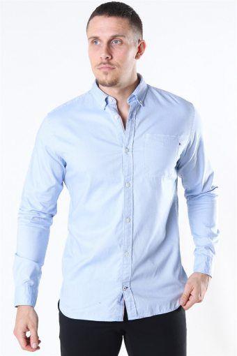 Classic Soft Oxford Skjorte LS Cashmere Blue