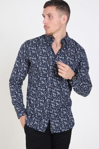 Focus Paisley Skjorte Navy Blazer