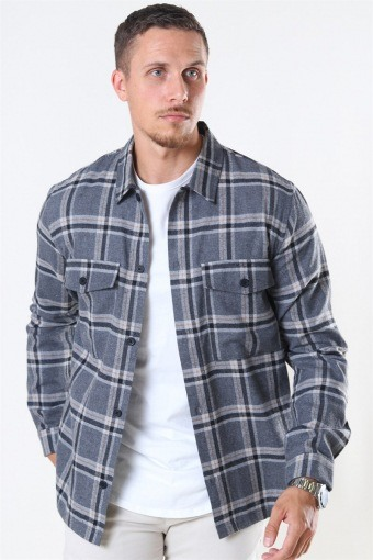Minex Skjorte Grey Mellange