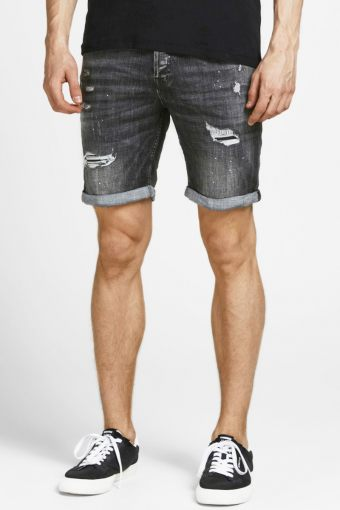 JJIRICK JJFOX  SHORTS GE 540 50SPS STS Black Denim