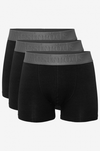 Resteröds Bambu 3-Pack Gunnar Boxershorts Black/Grey