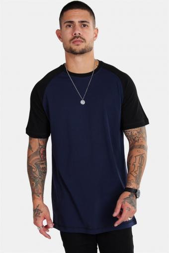 Raglan T-skjorte Blue Navy/Black