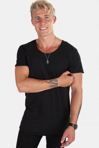 Jack & Jones T-skjorte Neck Noos Black Detail Reg Fit