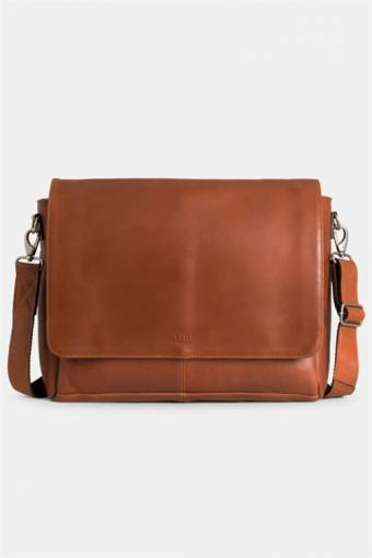 "Clean Large Messenger 13"" Cognac"