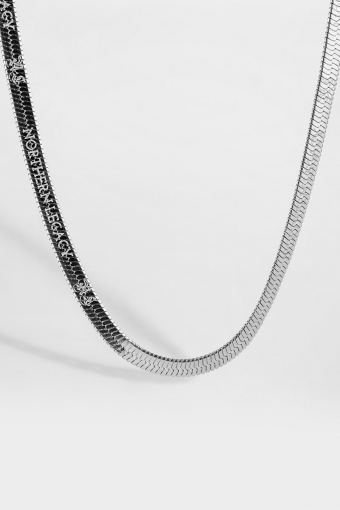 Herringbone Halskjede Silver