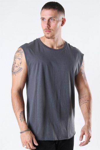 Klokkeban Classics Open Edge Sleeveless T-shirt Dark Shadow