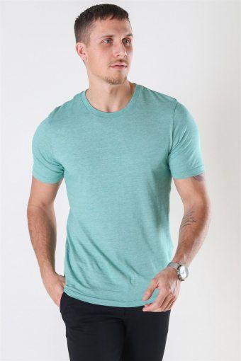 The Perfect Mel SS O-Neck T-shirt Shady Glade/Bright White