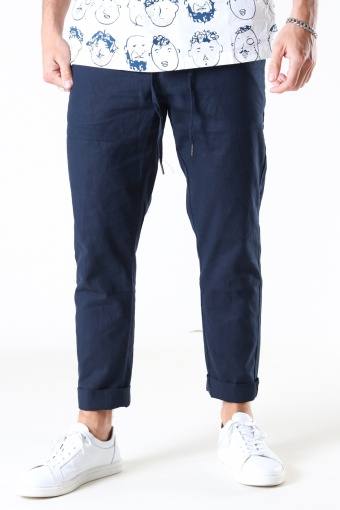 Barcelona Cotton / Linnen Pants Navy