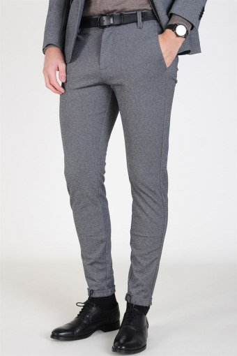 Pisa Jersey Pants Light Grey Mellange
