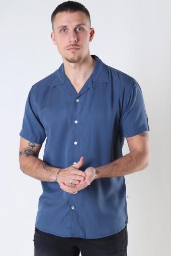 Cuba Tencel s/s shirt Blue
