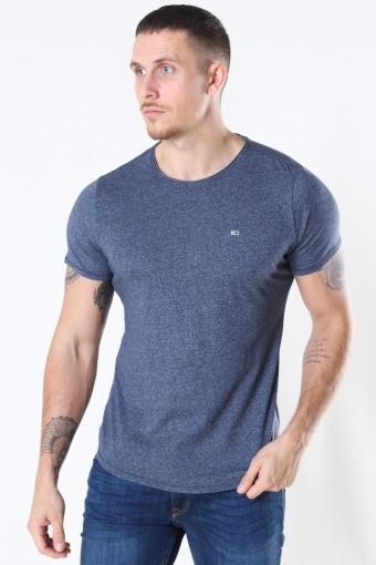 Slim Jaspe Crewneck T-shirt Twillight Navy