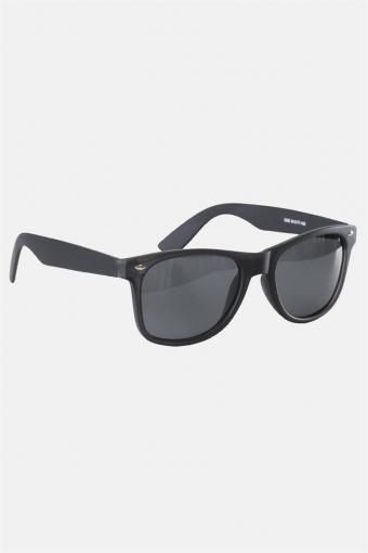 Fashion 1398 Wayfarer Solbriller Black Rubber Grey Lens