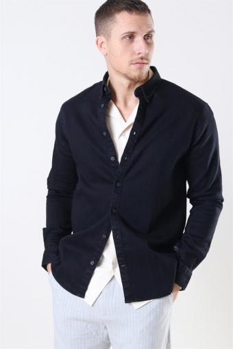 Johan Denim Skjorte Black