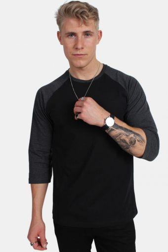 Klokkeban Classics TB366 Contrast 3/4 Sleeve Raglan T-shirt Blk/Cha