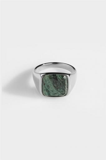 Ring Verde SignatKlokkee Green Marble Silver