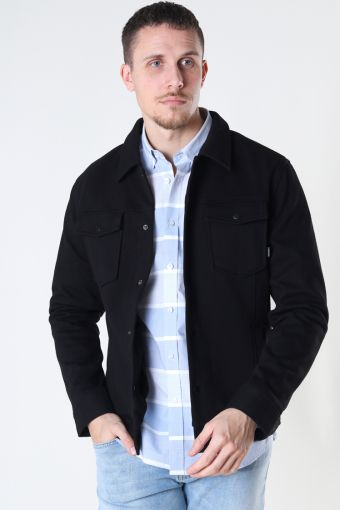JPRBLADEXTER SWEAT TRUCKER JACKET Black SLIM FIT