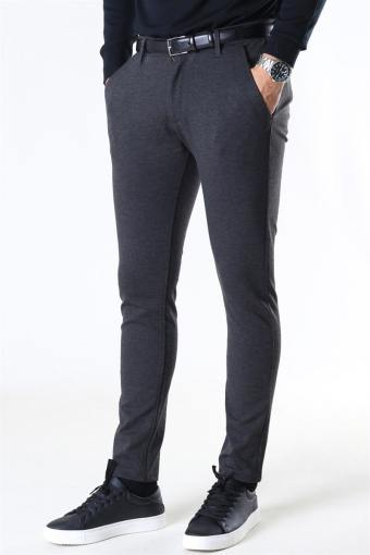 Ponte Roma Plain Pants Dark Grey Melange