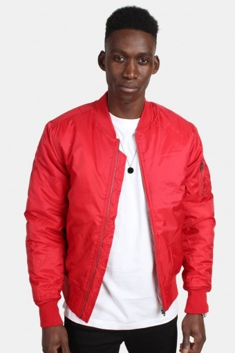 Klokkeban Classics TB861 Basic Bomber Jakke Fire Red
