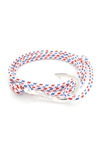 Hook Armbånd White/Red/Blue/Silver