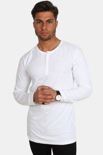 Placket LS T-skjorte White