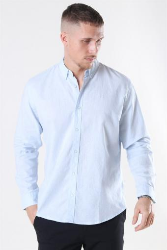 Clean Cut Cotton Linen Skjorte Sky Blue